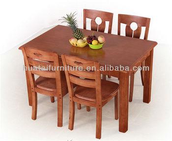 Moderne houten tafel sets vierkante massief houten keuken tafel en