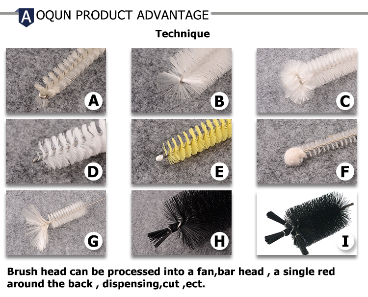 Multi-function nylon glass bottle washing brushes