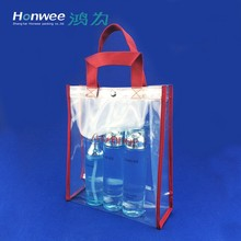 chinese supplier fancy snap button opaque pvc beach bag