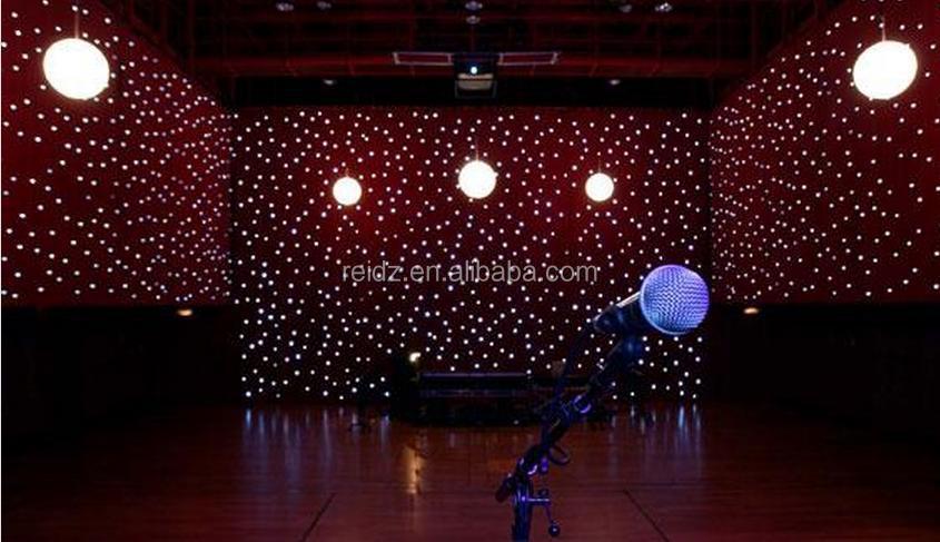 Holiday Lighting Fireproof Cloth Backdrop Led Star Effect Christmas