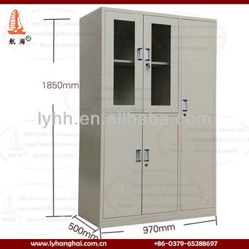 Milk White 5 Doors Furniture Mirrored Armoire Wardrobeglass Door