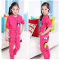 New Kids Girls Sleepwear sets Pajama Pyjama Set 2015 baby girls clothing sets cartoon minnie mouse