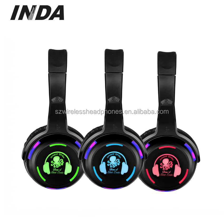 Wholesale Silent Disco Party Wireless Headphones for party, rf transmitter for wireless headphone