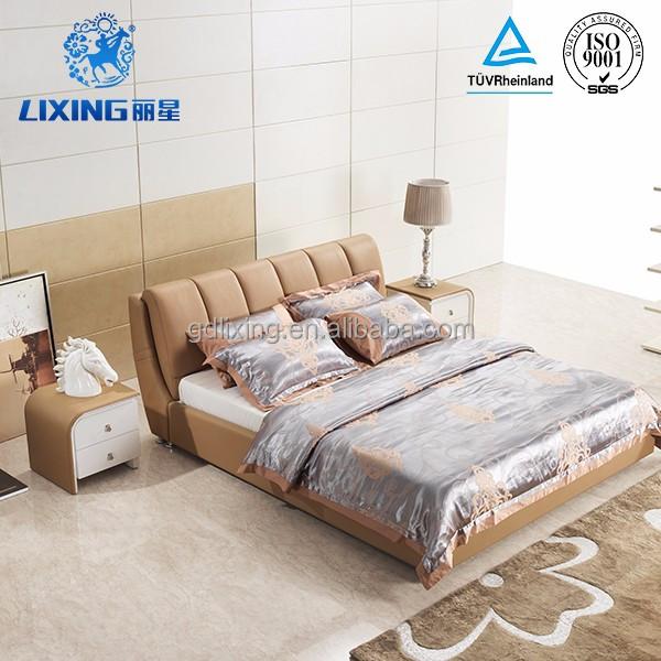 Muebles de Dormitorio De lujo Nuevo Diseño de Madera Maciza Cama De ...
