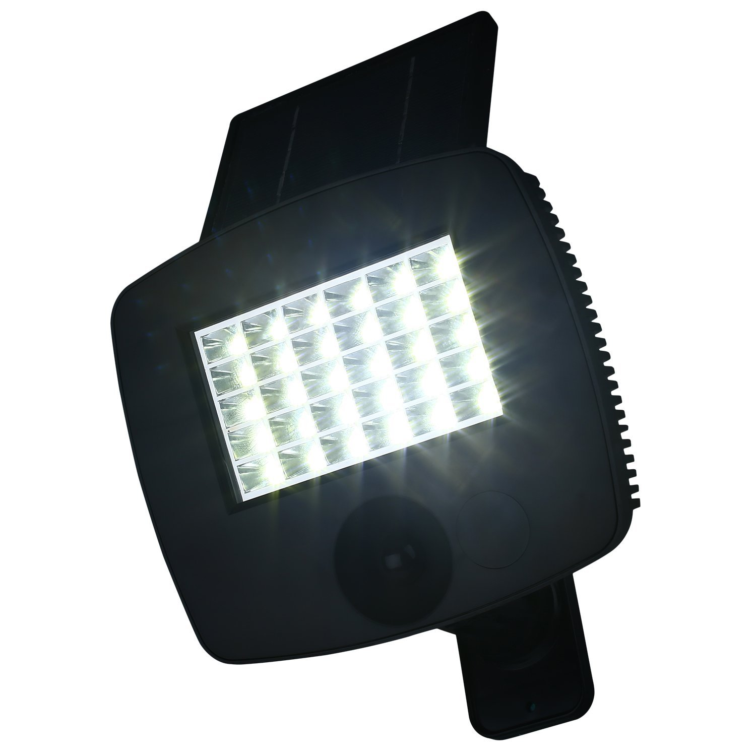 Hongfei Solar Outdoor LED Spotlight, Outdoor Lamp, Ultra Bright Garden Spotlight 200 Lumens LED with Solar Panel Motion Sensor for Garage, Garden, Patio, Terrace, Door, Portal, etc.