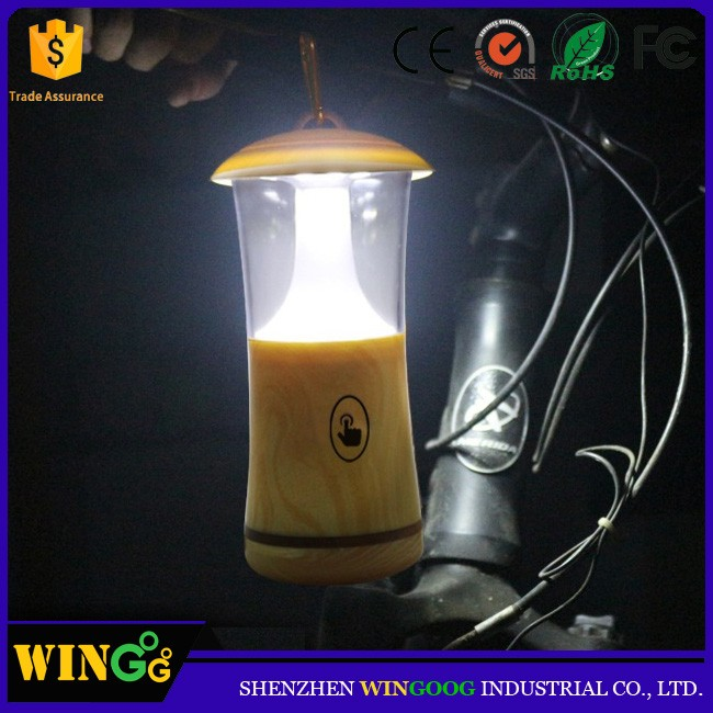 2017 wood design portable bright camping lamp led night light