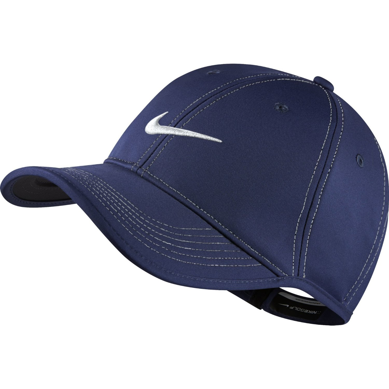 a78571da218 Get Quotations · NEW Nike Ultralight Contrast Stitch Midnight Navy White  Adjustable Hat Cap