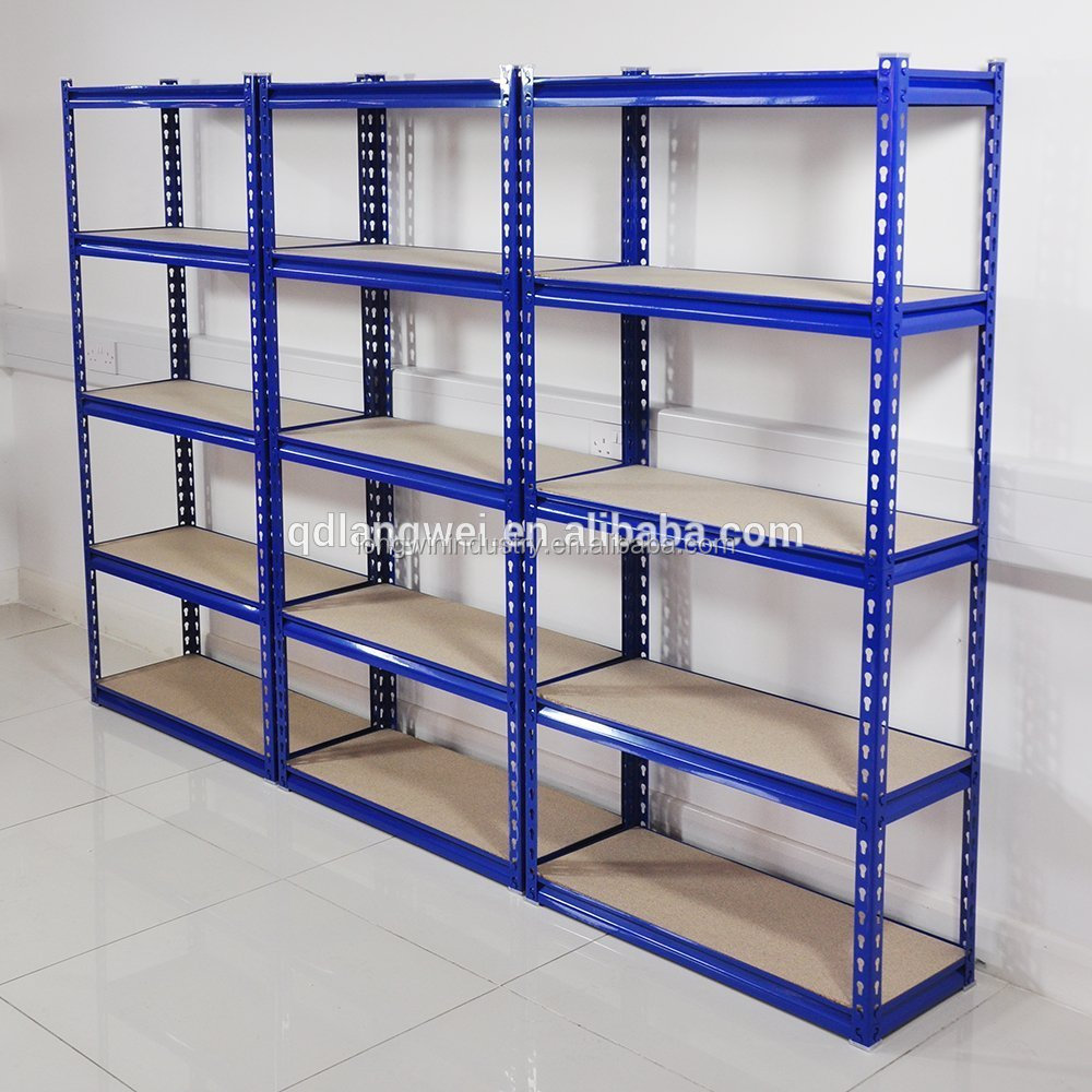 5 TIER HEAVY DUTY STEEL WAREHOUSE RACKING GARAGE FREE STANDING SHELVING STORAGE