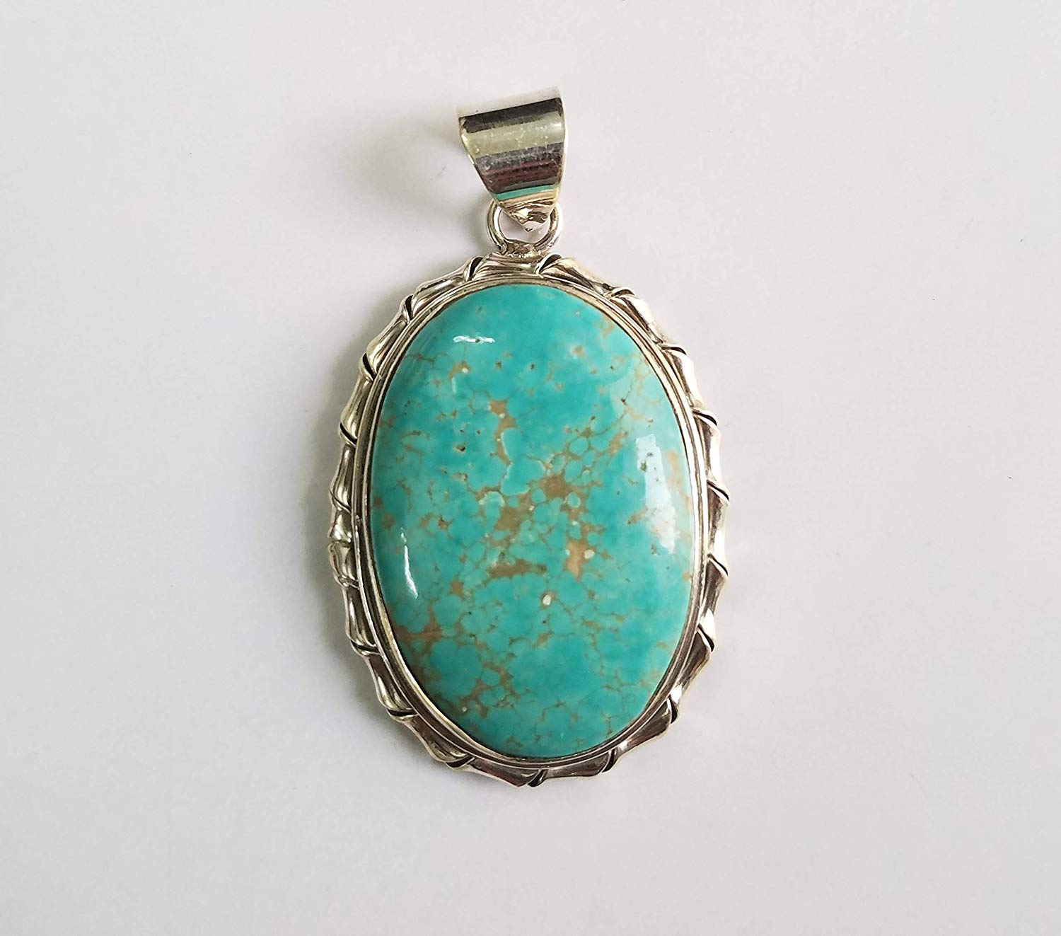 Natural Turquoise Pendant 925 Sterling Silver One Of A Kind Ocean Pendant Ethnic Pendant Fashion Handmade Pendant Extraordinary Pendant Extremely Unusual Pendant December Birthstone Anniversary Gift