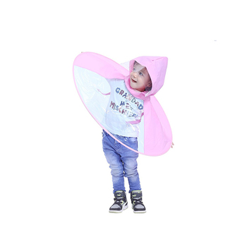 Custom printed eco-friendly clear baby raincoat for sale