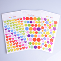 6pcs set Colorful Dot Love Heart Stars Shape Funny Toy Sticker Kids Paper Diary Scrapbook Decorative