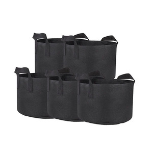 High quality garden plant growing pot felt grow bags with handles
