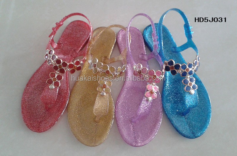 Crystal Bring Bring Jelly Shoes And Jelly Slippers,Flowers And ...