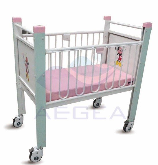 AG-CB004 stainless steel handrails hospital baby beds for cheapest sale