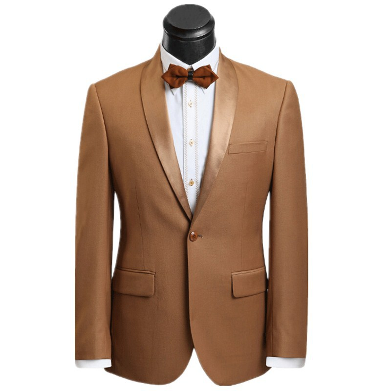 Buy New products The groom suits wedding garment gold shawl collar ...