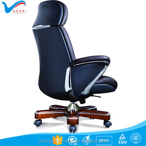 PU leather upholstery cheap office 1605A hotel desk chair aluminum armrest casino chair
