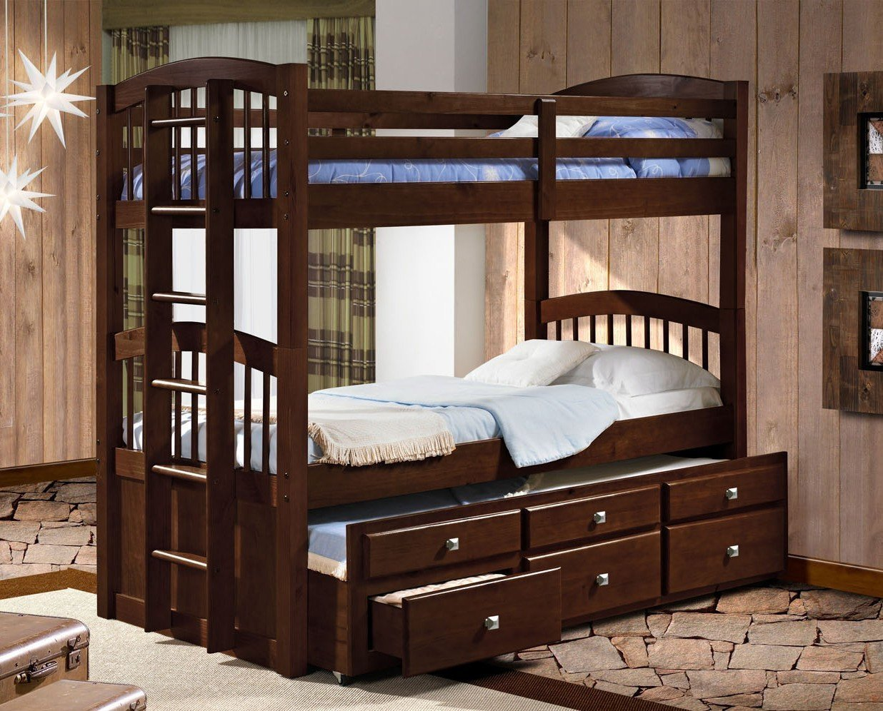 Captains Bunk Bed with Storage & Free Storage Pockets