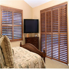 classical wooden color high quality basswood plantation shutter