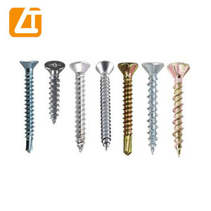 DIN7982 recessed raised countersunk head tapping screws