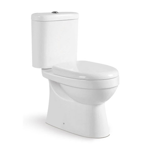 kaslan two piece dual flush close coupled toilet in bathroom