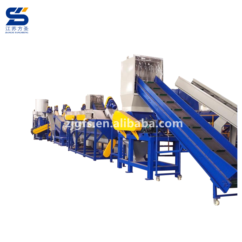 China city garbage waste plastic recycling washing system