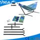 Outdoor Cotton Camping Hammock Stands Leisure Hanging Hammock Chair Double Hammock Steel Stand Swing Bed