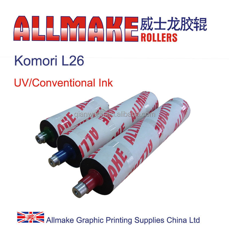 spare parts for komori offset/ink rubber rollers for L26