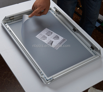 snapper frame 11x17 good quality advertising frame silver clip