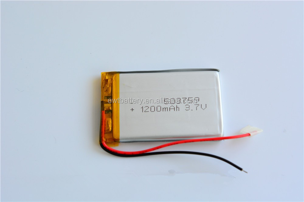 KOREA KC Certificate 053759 3.7V 1200mAh lipo battery polymer li-ion battery 503759 for GPS/GPRS Tracker