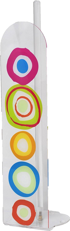 EVIDECO 670184 Vitamine Bathroom Freestanding Printed Toilet Tissue Paper Roll Holder Reserve 4 Rolls