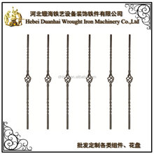 hot sale wrought iron balusters ornamental components for wroght iron gate