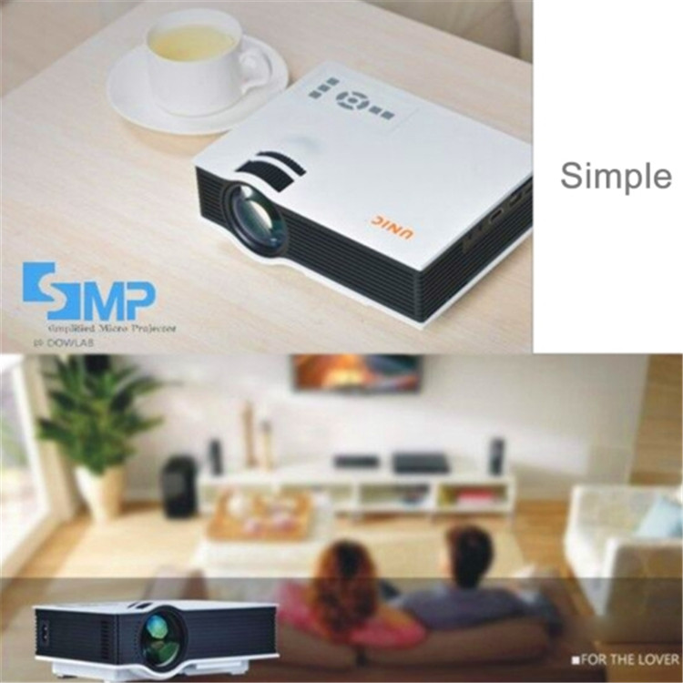cheap and good quality make 800*480 1080p support UC40 portable projector, entertainment projector,lcd bearer