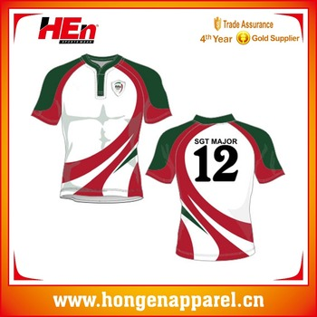 efdeeb85753 Hongen apparel Cheap Comfortable custom Dye Sublimation Printing Authentic  Rugby Jerseys