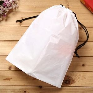 Accept Custom Biodegradable Feature LDPE material two ropes plastic drawstring laundry bags