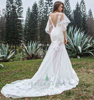 Long Bridal Dress Wedding Party Gowns Transparent Fishtail Beach Wedding  Dresses Light Design , Buy Beach Wedding Dresses,Bridal Party Gowns,Long