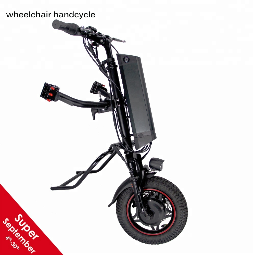 New suspension model ! Cnebikes 36v 350w electric wheelchair handcycle attachment