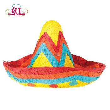 Chapéu Sombrero Mexicano Pinata Do Ofício De Papel Para Doces Doces ... 26f9af05811