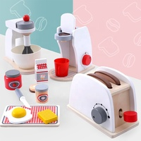 custom kids brinquedos bread maker wooden kitchen toy set wooden toaster toy