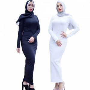 Fashion muslim women under abaya tight dress