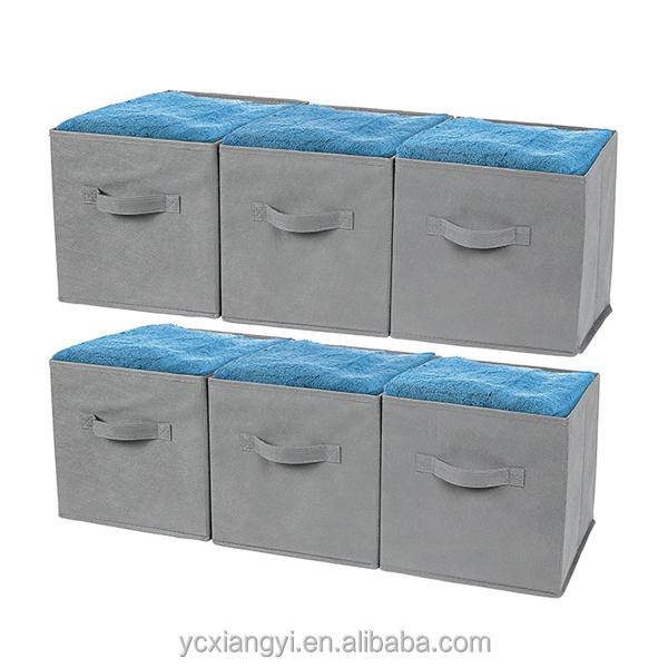 walmart tissu pliable cube de rangement panier bin cube de stockage bacs bo tes caisses de. Black Bedroom Furniture Sets. Home Design Ideas