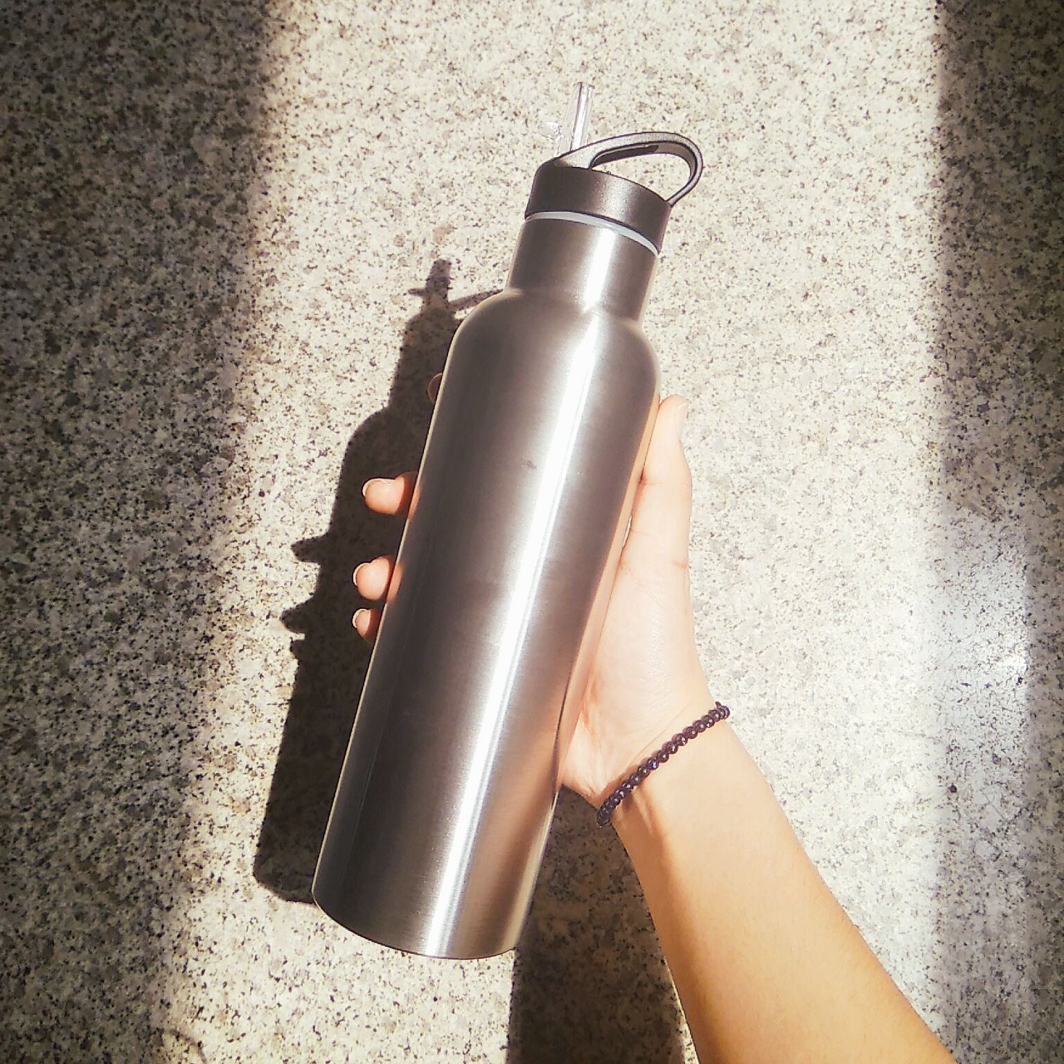 Double Wall Insulated Stainless Steel Thermos Water Bottle