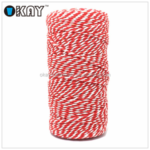 Baker Twine Striped white and red string