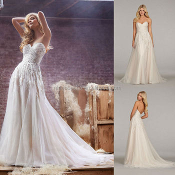 highclass 2014 sweetheart low back tulle made aline