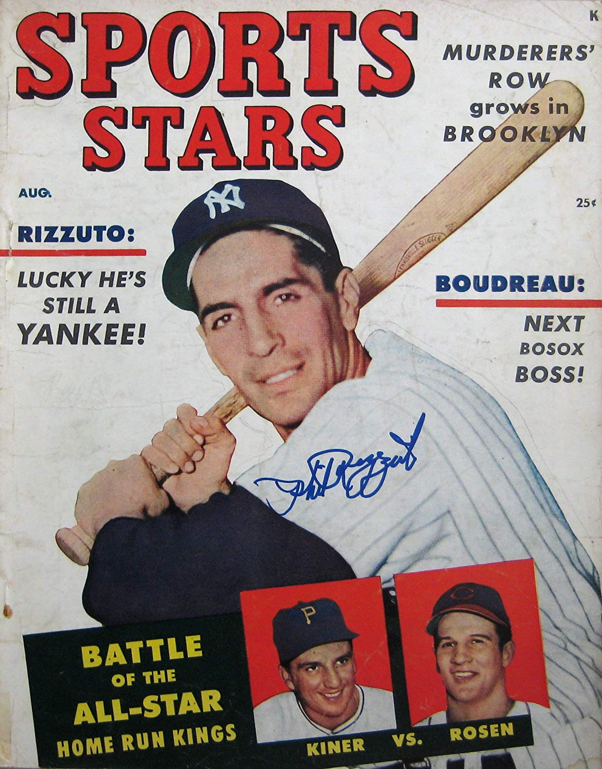 """Rizzuto, Phil """"Scooter"""" 8/51 autographed magazine"""