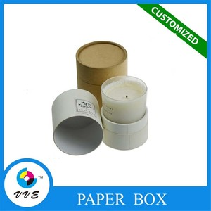 custom colourful cardboard wax candle paper box wholesale
