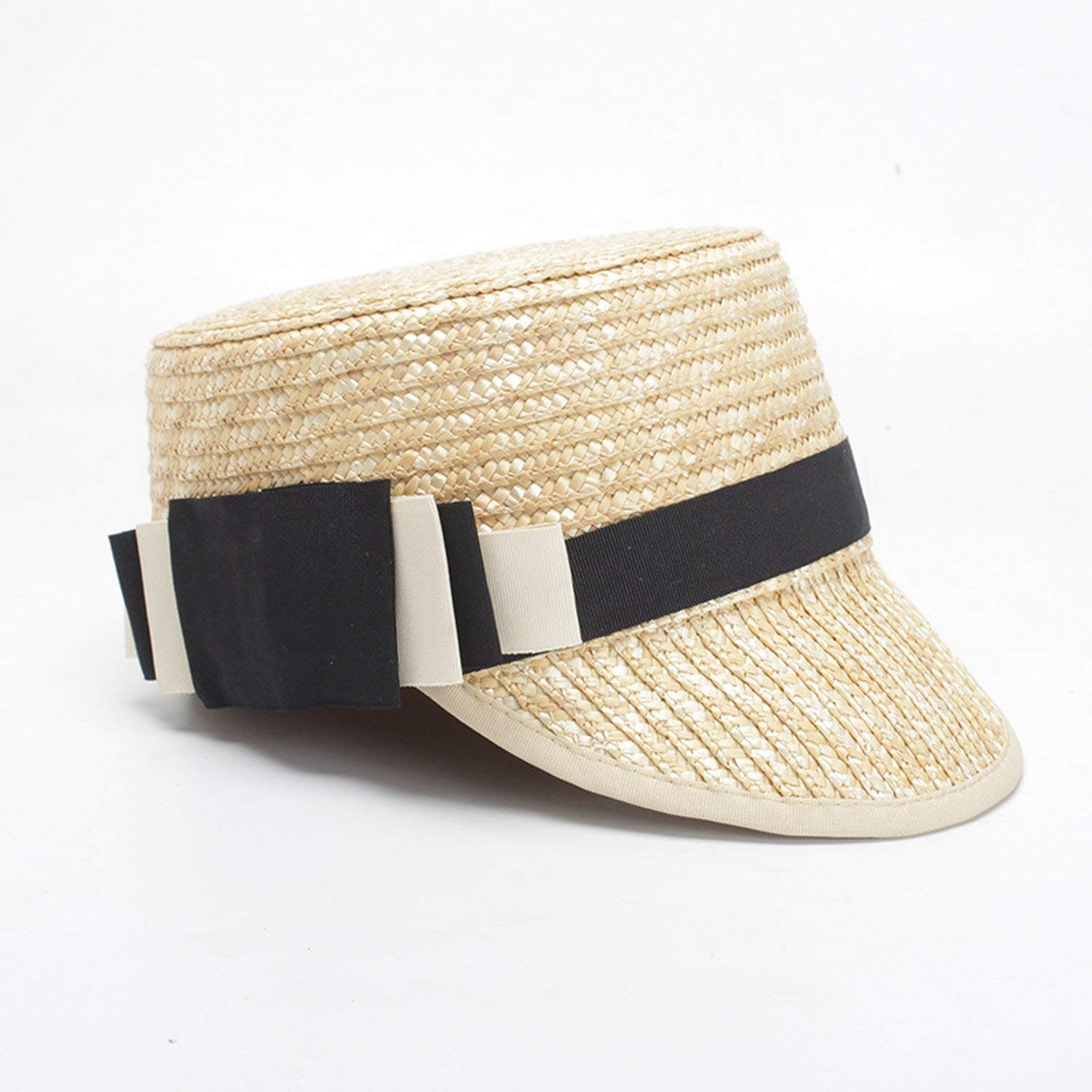 6a54da37c837a Get Quotations · Summer hat ladies straw straw hat sun hat flat top cap  Europe and the United States