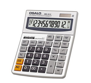 OSALO Desktop Design Check Function calculator with Lcd Display Wholesale,OS-8812C