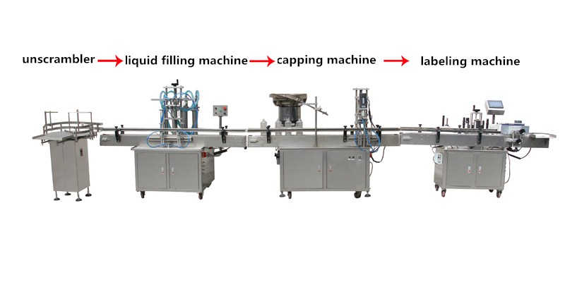Low price high quality manufacturers direct mineral water liquid automatic filling line