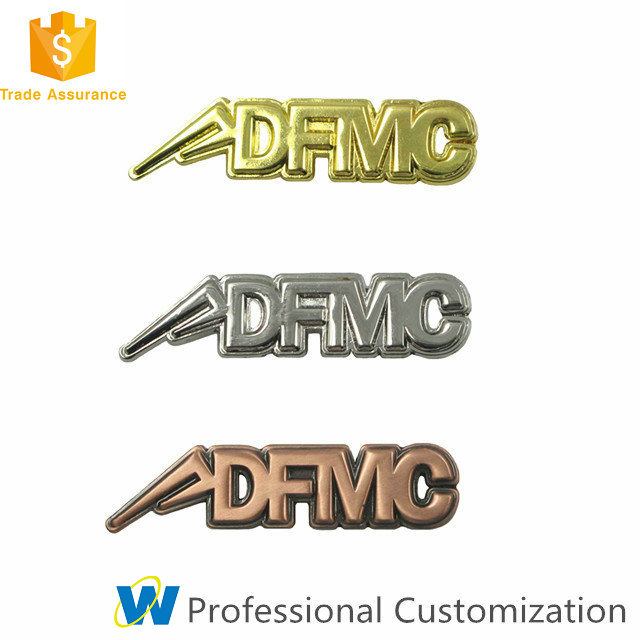 Cheap Custom Letter Metal Lapel Pin with Different Plating