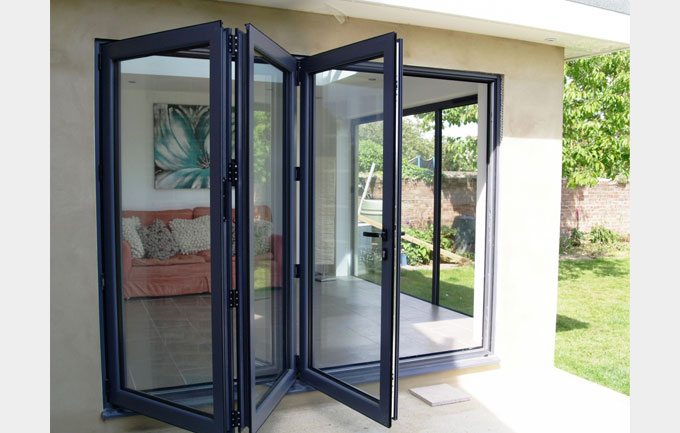 American Standard Aluminum Glass Bifold Doors Folding